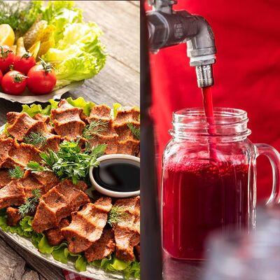 Ready-To-Eat Çiğ Köfte and Hot Turnip Juice