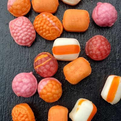 Rock Candy With Lemon, Orange and Strawberry, 12.34oz - 350g