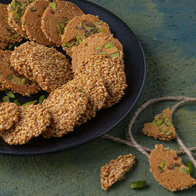 Sesame and Honey Flavored Cookies , 7oz - 200g