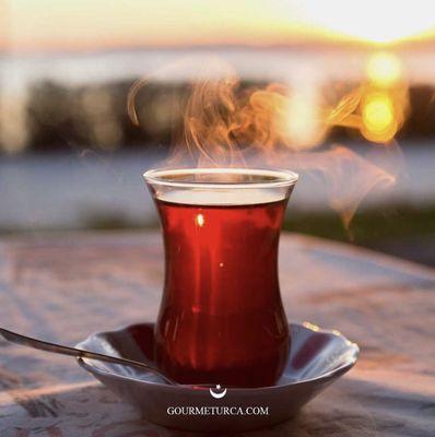 Special Pistachio Halva and Turkish Tea