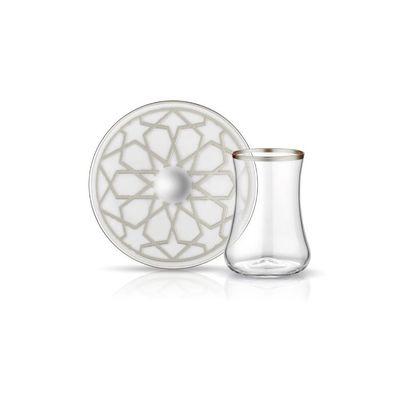 Star Platinum Dervish Tea Cup Set , 6 pieces