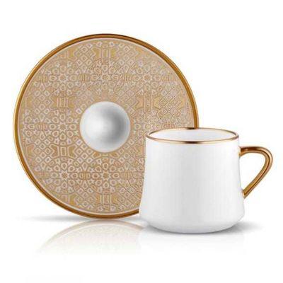 Sufi Tea - Coffee Cup Set Ottoman Gold , 6 pieces