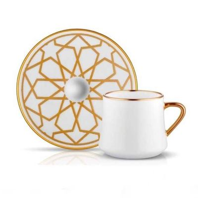 Sufi Tea - Coffee Cup Set Star Gold , 6 pieces