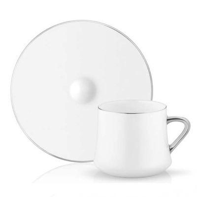 Sufi Tea - Coffee Cup Set with Platin Border , 6 pieces