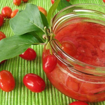 Handmade Natural Sugar-free Cornelian Cherry Marmalade , 12oz - 350g