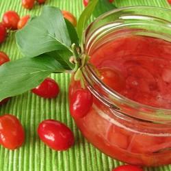 Handmade Natural Sugar-free Cornelian Cherry Marmalade , 12oz - 350g - Thumbnail