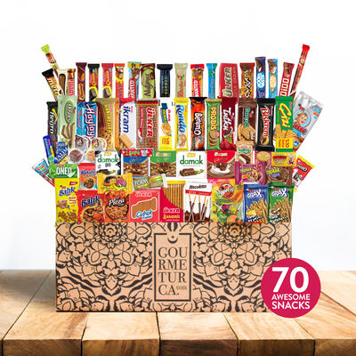 Turkish Abur Cubur Box, 70 Pieces