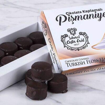 Traditional Chocolate Covered Turkish Floss Halva, 7oz - 200g