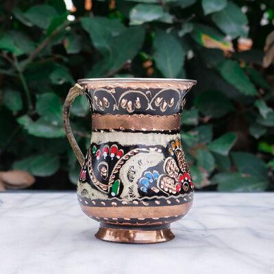 Traditional Colorful Copper Ayran Mug