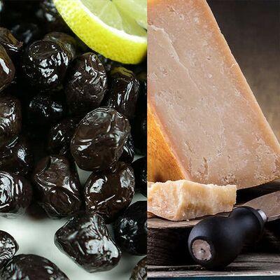 Trakya Aged Kasseri Cheese and Black Olives