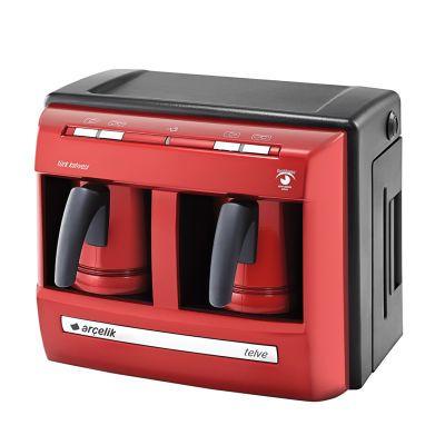 Turkish Coffee Maker Red Telve