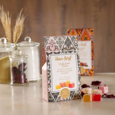 Turkish Delight With Rose and Lemon Flavour, 4oz - 125g