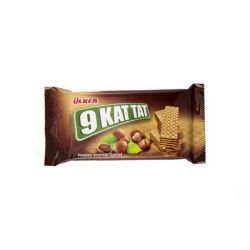 Ülker - 9 Kat Wafer with Hazelnut , 18 pieces