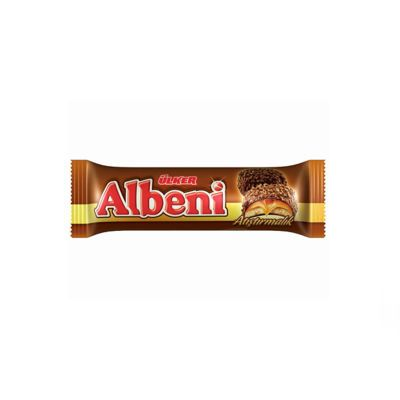 Albeni Chocolate Coated Biscuit with Caramel , 4 pack