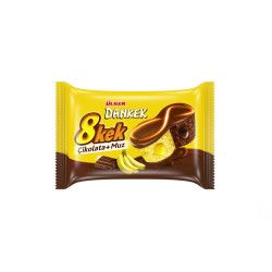 Ülker - Dankek 8Kek Banana Double Chocolate Cake , 24 pieces