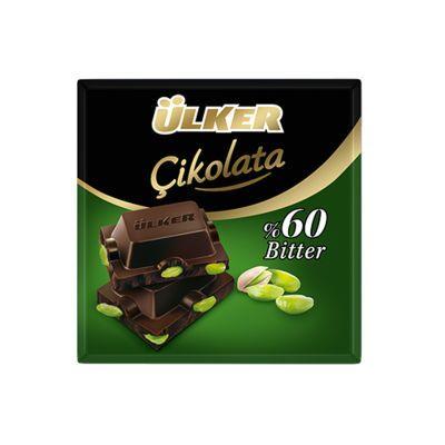 Dark Chocolate Square with Pistachio , 6 pieces