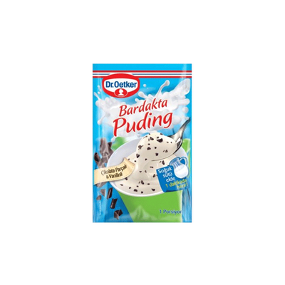Vanilla Pudding with Chocolate Chips in Glass , 1.2oz - 34g 3 pack