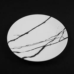 White Dinner Plate , 10.2 x 1.1 inch - Thumbnail