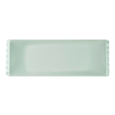 White Snack Plate , 12.9 x 4.7 x 1.1 inch