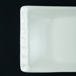 White Snack Plate , 12.9 x 4.7 x 1.1 inch - Thumbnail
