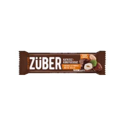 Züber Hazelnut Chocolate Fruit Bar , 40g 3 pack