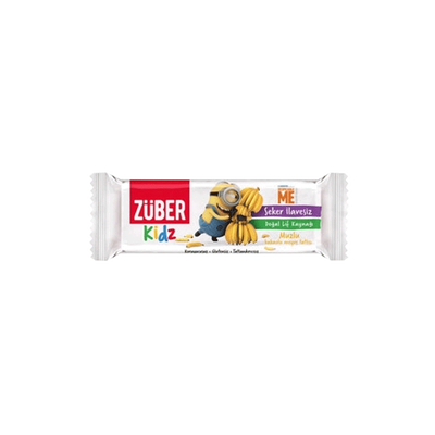 Züber Kids Banana and Cocoa Fruit Bar , 30g 3 pack