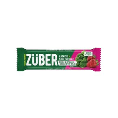 Züber Strawberry and Spinach Vegetable Bar , 35g 3 pack